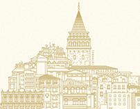 Line Illustration // İstanbul