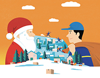 BATTLE: Santa VS Delivery man (colissimo)