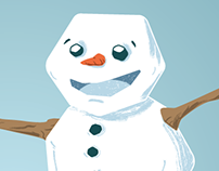 Frosty the Snowman Illustration