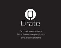 Orate - Business Card Design