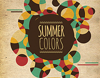 Summer Colors Minimal Party Flyer Template