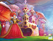 Alice in wonderland illustration design
