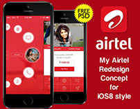 My Airtel iOS8 concept UI psd V2