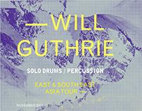 Tourposter Will Guthrie / Design Marijke Loozen