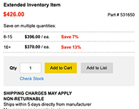 HD Supply Product Detail Page UX/CRO Redesign