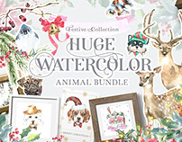 Watercolor Animals Bundle Sale+Free