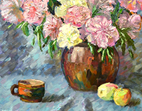 "Painting ""Still Life with Peonies"""