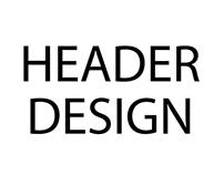 Portfolio - Header Design