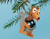 3D Paper Art Christmas Baubles