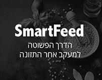 Ux wireframes design for SmartFeed App