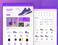 E-commerce ui design, Online shopping website