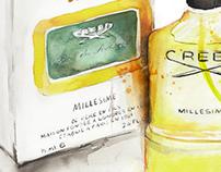 Mens Fragrance Illustrations