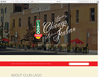 Club Lago Website Redesign