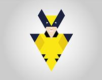 ILUSTRAÇÃO: Wolverine com triângulos