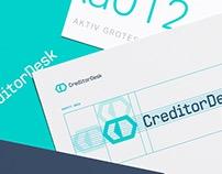 CreditorDesk - Diseño de logotipo e interfaz gráfica