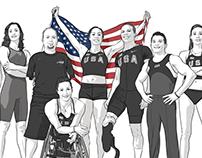 BP's Team USA Athletes Infographics