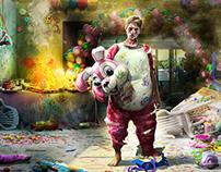 """Art for Domino's Pizza """"Survivors"""" campaign (1)"""
