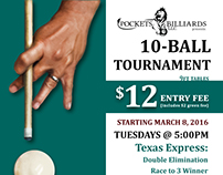 Pockets Billiards 10Ball Tournament