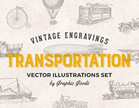 68 Vintage Transportation Engravings