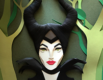 Maleficent - Paper Illustration
