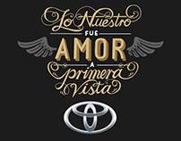 Lettering Toyota San Valentín