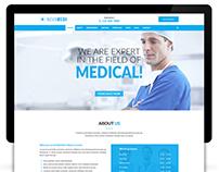 NOVAMEDI - one page Medical psd template