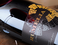 Rumelia Syrah wine label design by the Labelmaker