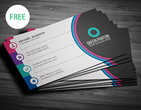 Flat Corporate Business Card | Freebie
