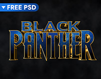 Black Panther Cinematic 3D Text Effect (FREE)