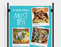 Cocina Peruvia Must Try!