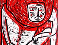 pobres diablos - linóleo