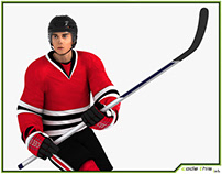 3D Model: Hockey Player HQ 002