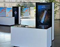Biogen Idec - interactive installations