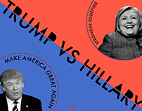 TRUMP VS HILLARY - INFOGRAPHIC