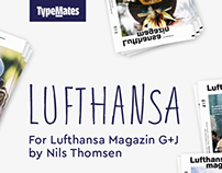 handmade font for Lufthansa Mag. by G+J Corp. Editors