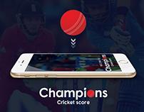 Champions Cricket score