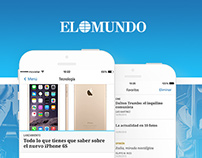 App design | El Mundo #news #world #media #ui #ux