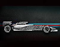 Williams Martini Racing Mercedes Formula 1 Car