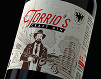 Torrio's Gin - Label Design