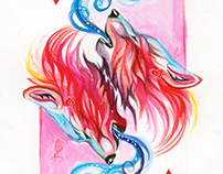 """""""Beasts"""" Playing Card Series"""