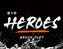 Heroes Brush Font