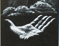 Black and white hand studies