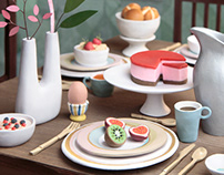 Hand-Sculpted Miniature Tableware