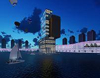 City night 3d render