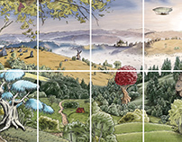 8-Piece painting