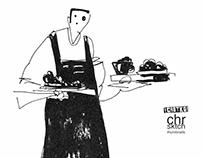 Waiter Sketch
