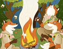 Girl Scout Foxes - Highlights Hidden Object Puzzle