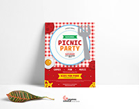 Free Modern Picnic Party Flyer Template For 2020