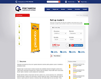 PENTAMEDIA Printing - ecommerce product page