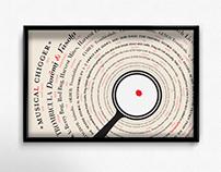 Musical Chigger | Typographic Anatomy Poster